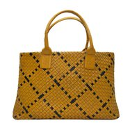 Trishikha Leather Hand Woven Shoulder Bag