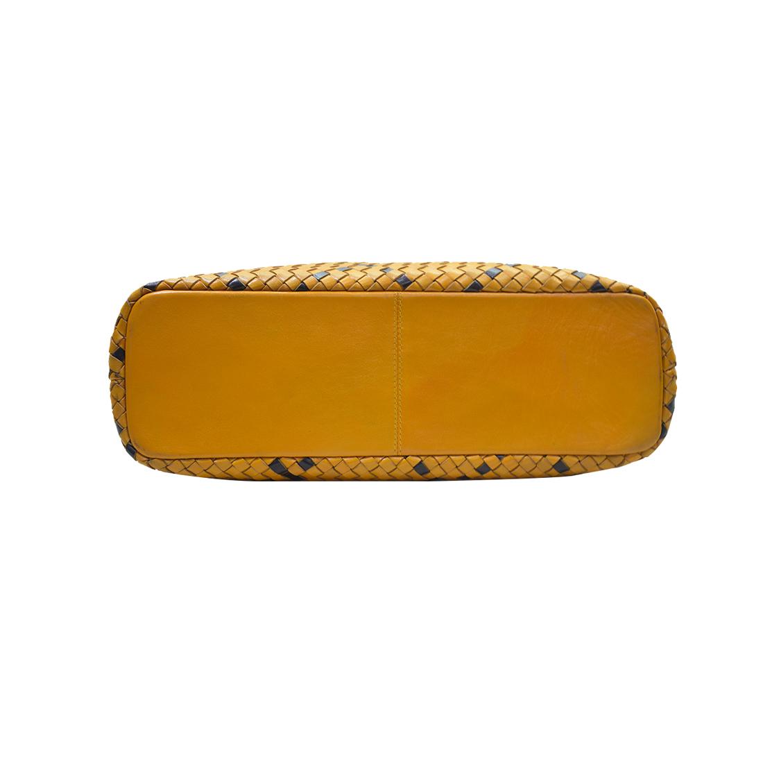 Trishikha Leather Hand Woven Shoulder Bag