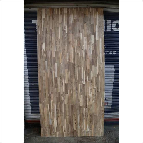 Finger joint teak wood boards