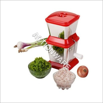 Red And Silver S.S.Onion Chopper