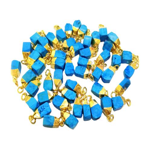 Raw Turquoise Gold Cap Pendant