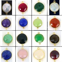 Gemstone Bezel Round Shape Connector