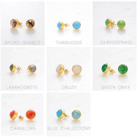 Amethyst Gemstone Stud Earring