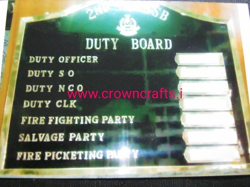 Duty Board brass