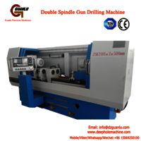 High efficient double spindle gun drilling machine for oil pump injectors