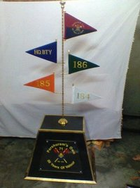 Wooden Stand BTY Flags