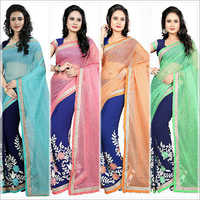 Embroidered Pure Georgette Saree