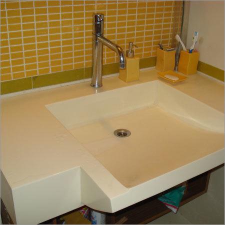 Acrylic Plain Solid Surface Basin