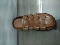 BROWN LEATHER CASUAL SANDALS FOR MEN'S