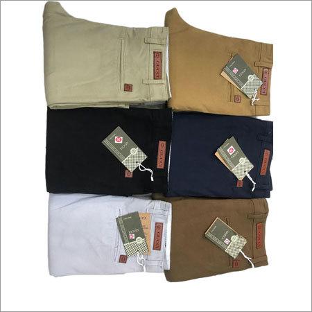 Mens Cotton Plain Trouser