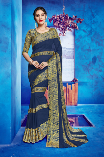 Georgette Saree (Galaxy) (10)