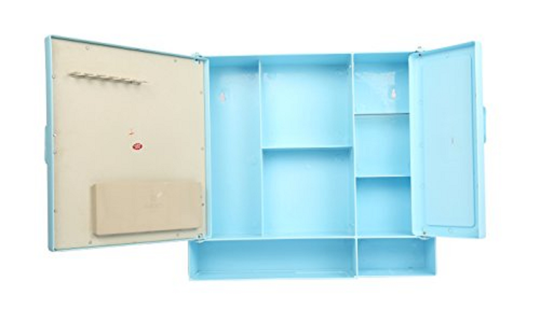 Bathroom Cabinet Shelf Blue Exporter, Supplier & Trader from Mumbai ...