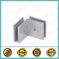 90 Degree Brass Shower Glass Connector Glass to Glass