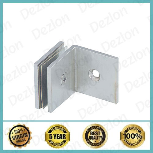 90 Degree Brass Shower Glass Connector Wall To Glass
