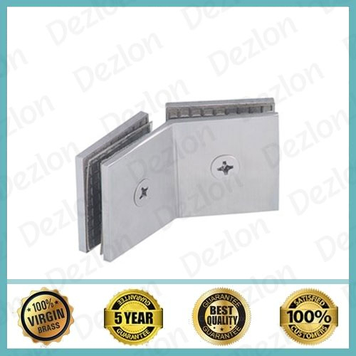 135 Degree Brass Shower Glass Connector Glass to Glass