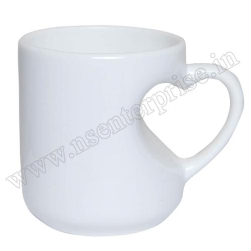Heart Shape White Mug