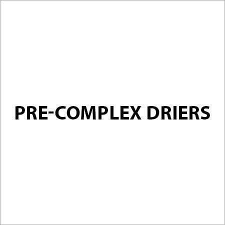 Pre-Complex Driers