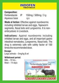 Fenbendazole Tablet/Bolus (Indofen)