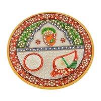 Designer Marble Pooja Thali