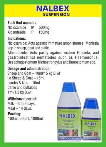 Niclosamide and Albendazole Solution (Nalbex)