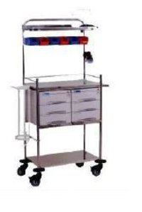 Crash Cart With S.S Drawers
