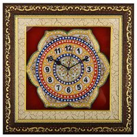 Marble Flower Wall Clock