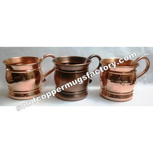 Antique copper mule mug