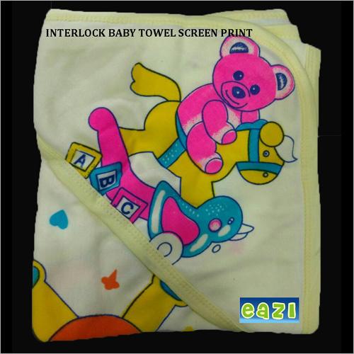 Interlock Baby Towel Screen Print