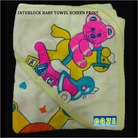Interlock Baby Towel Screen Print