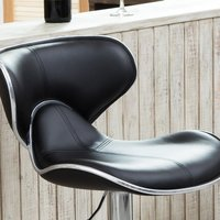 Cafeteria / Bar Stool Chair in Black