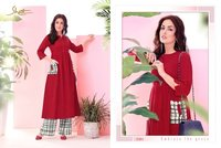 New latest long  printed kurti online shopping india