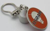 Enamel Filled Metal key chains