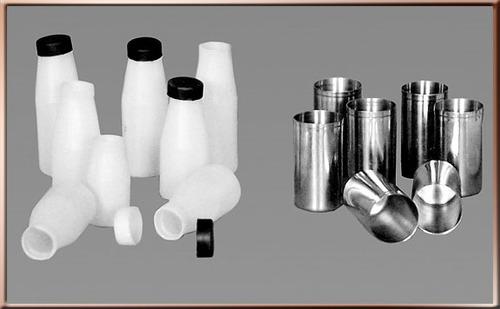 Milk Sample Bottle Plastic & SS
