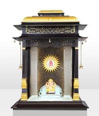 Gold Leafing Ganpati Temple
