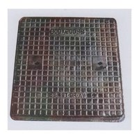 CI Manhole Cover Single Seal Solid Top