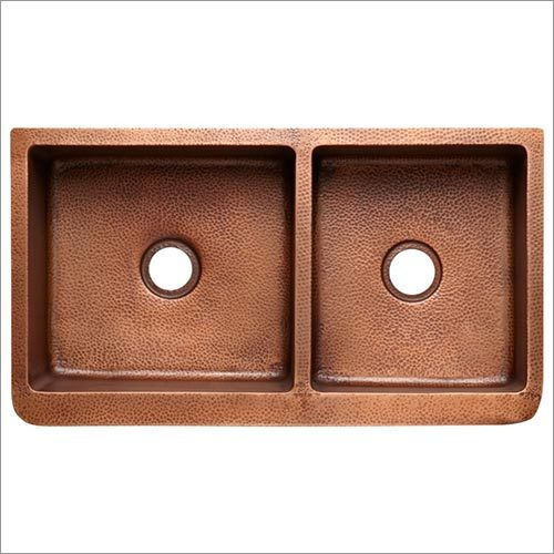 Double Block Copper Kitchen Sinks