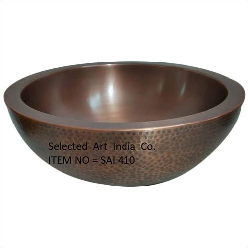 Bowl Type Copper Kitchen Sink