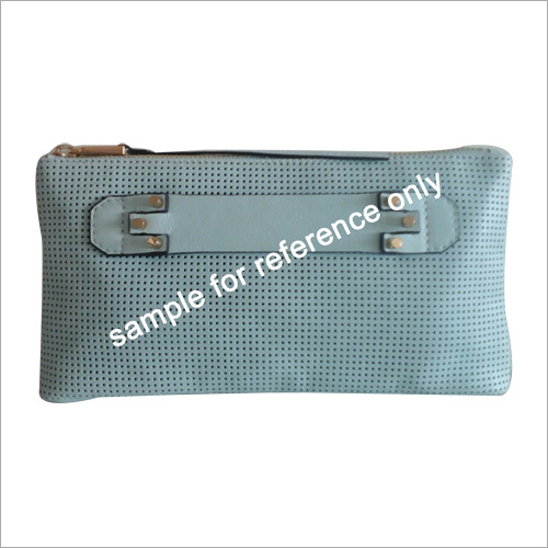 Ladies Perforated Leather Clutch