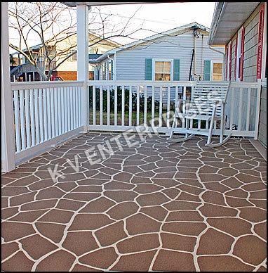 Stenciled Spary Textured Flooring