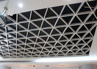 White Open Cell Ceiling Grid