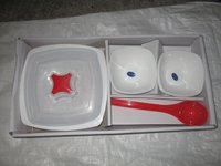 CHROMA SET 15 PC,6 BOWLS,1 CASSEROLE,6 SPOON,1 SERVING SPOON,1 CASSEROLE LID