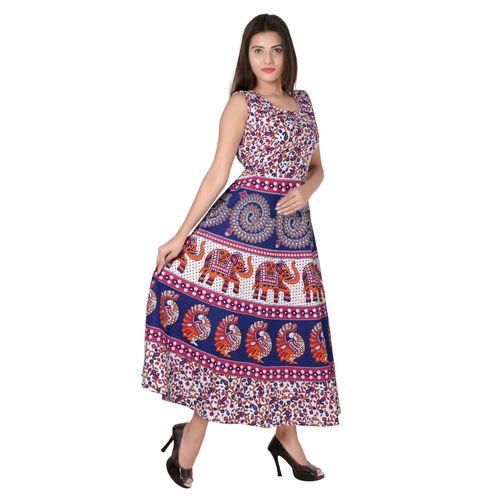 Jaipuri Traditional Long Midi Dress