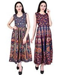 Jaipuri Traditional Long Cotton Dress