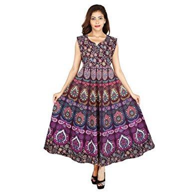 Jaipuri Traditional Long Cotton Dress