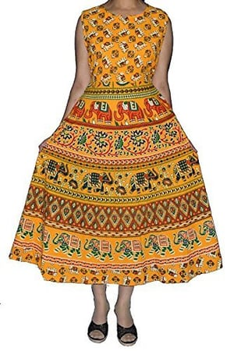 Rajasthani Traditional Long Midi Dress