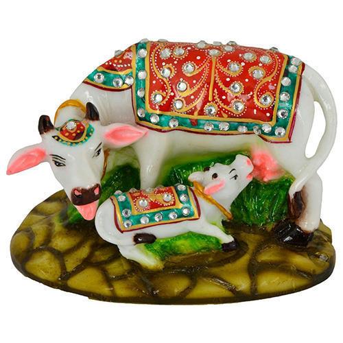 Fiber Cow Statue