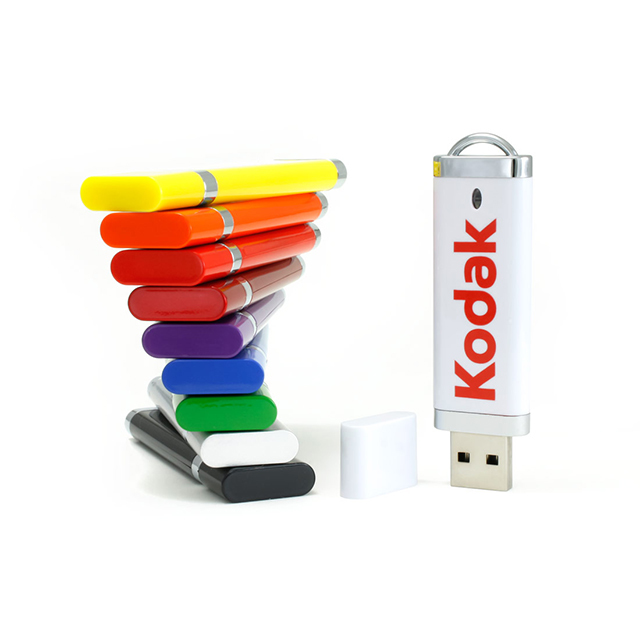 Rectangular Shaped Plastic USB Flash Drive 16 GB