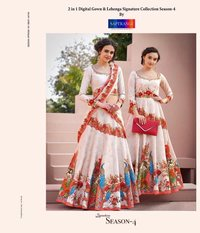 Party wear embroidered work lehenga online  india