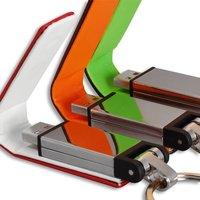 Leather-metal USB flash drives 8/16 GB USB 2.0 high speed USB flash