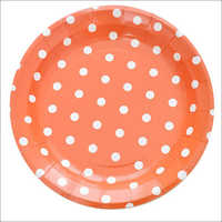 Disposable Colorful Dot Printed Paper Plates